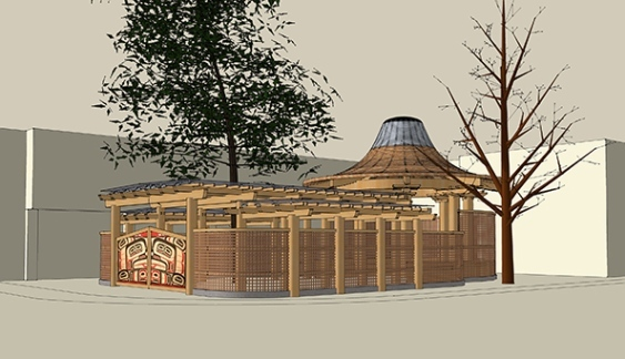 Vancouver Courier: Aboriginal carving pavilion nears completion at Britannia
